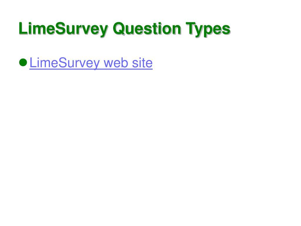 LimeSurvey Question Types