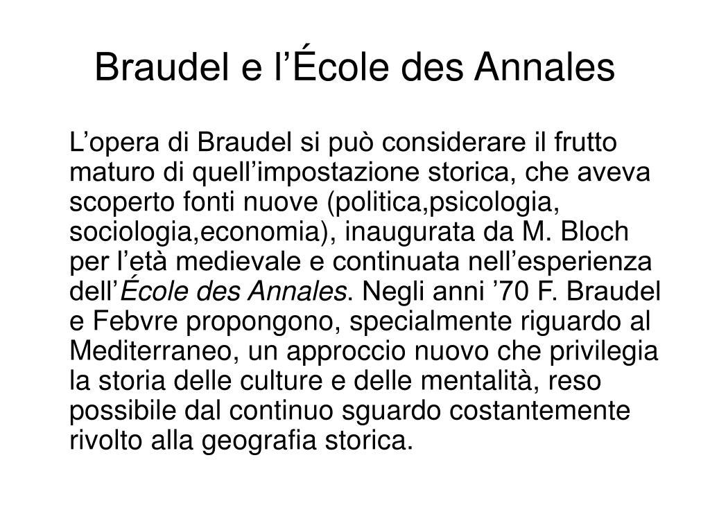 Braudel e l'