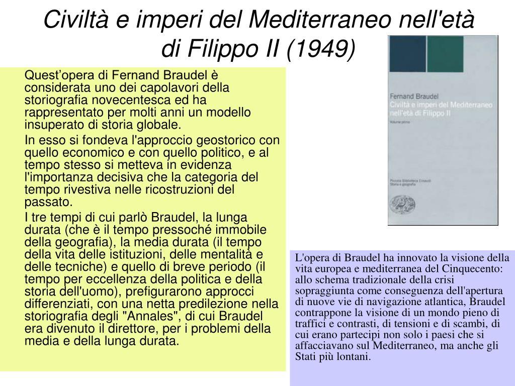Civiltà e imperi del Mediterraneo nell'età di Filippo II (1949)