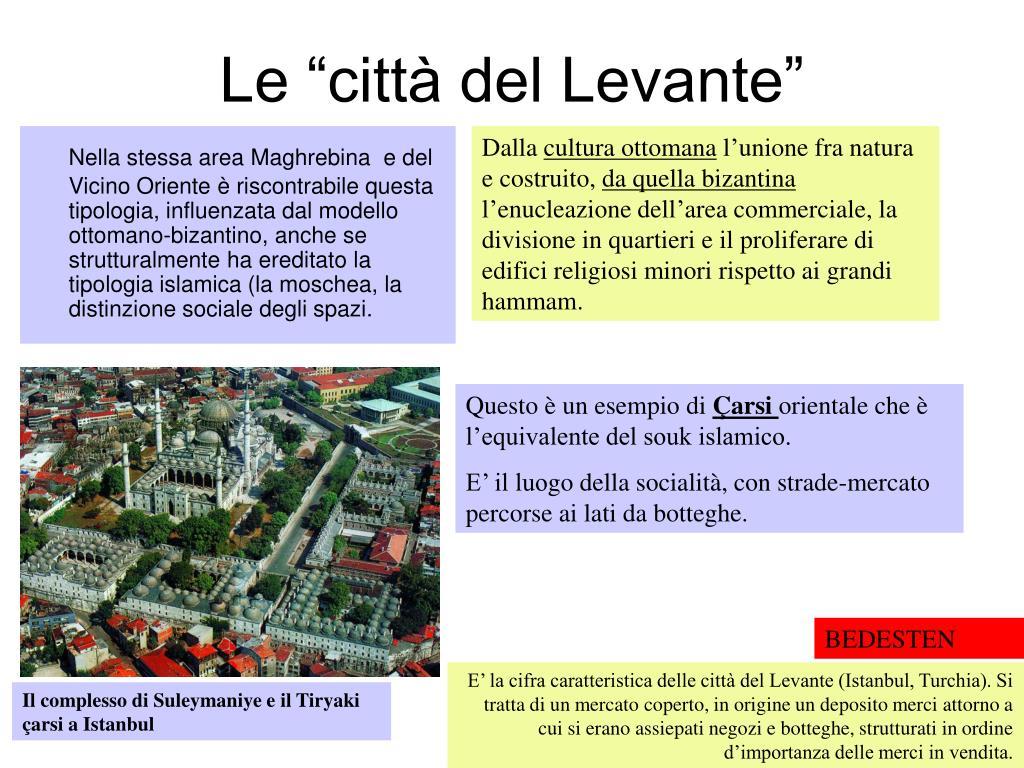 """Le """"città del Levante"""""""