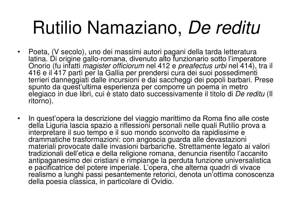 Rutilio Namaziano,