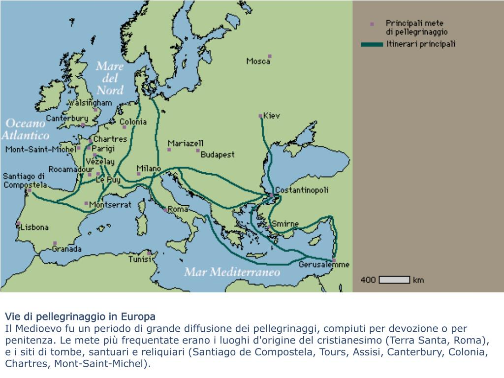 Vie di pellegrinaggio in Europa
