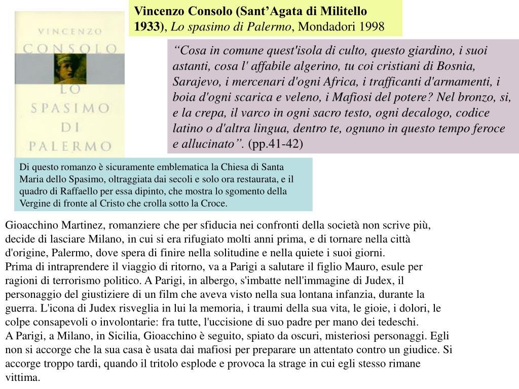 Vincenzo Consolo (Sant'Agata di Militello 1933)