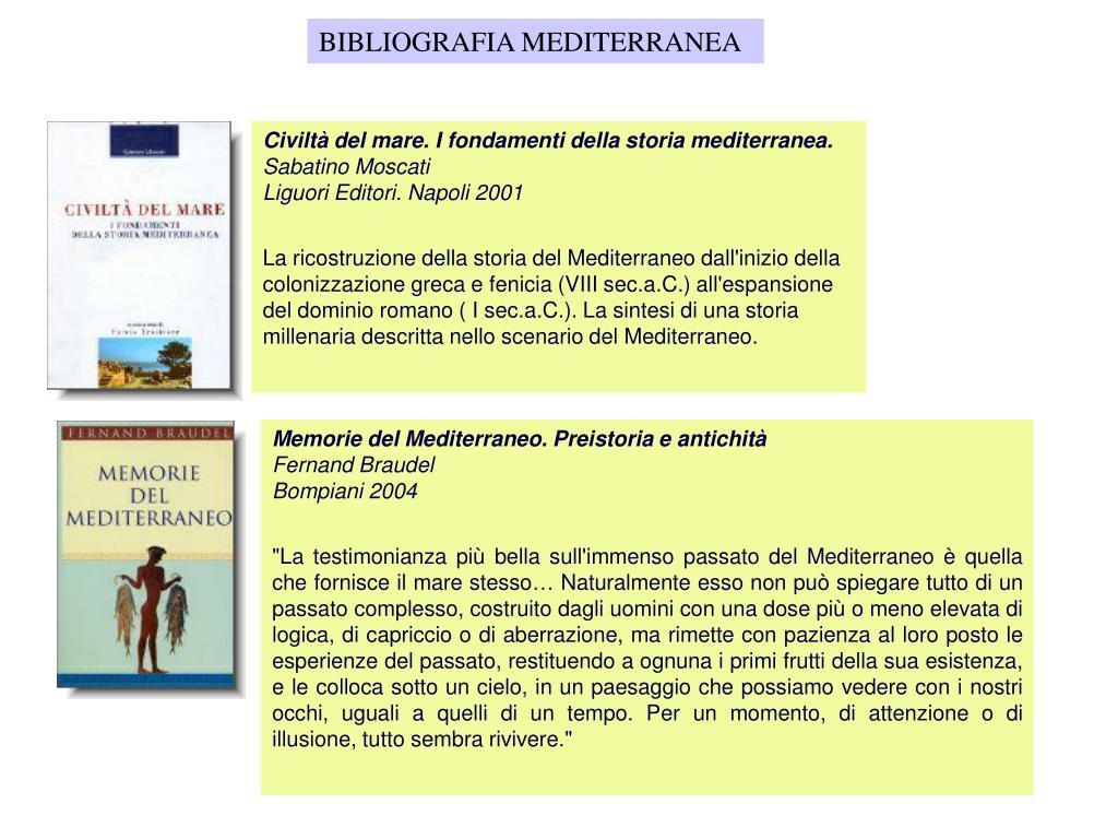 BIBLIOGRAFIA MEDITERRANEA