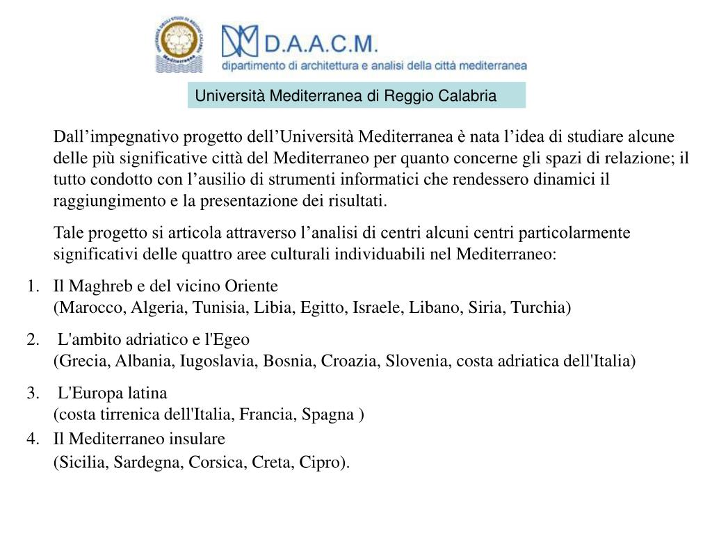 Università Mediterranea di Reggio Calabria