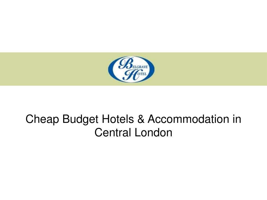 Cheap Budget Hotels & Accommodation in Central London