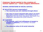 coleman social capital in the creation of human capital 2 some vague definitions