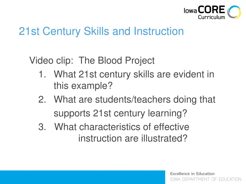 21st Century Skills and Instruction