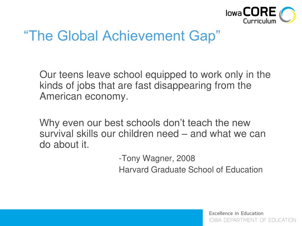 """The Global Achievement Gap"""