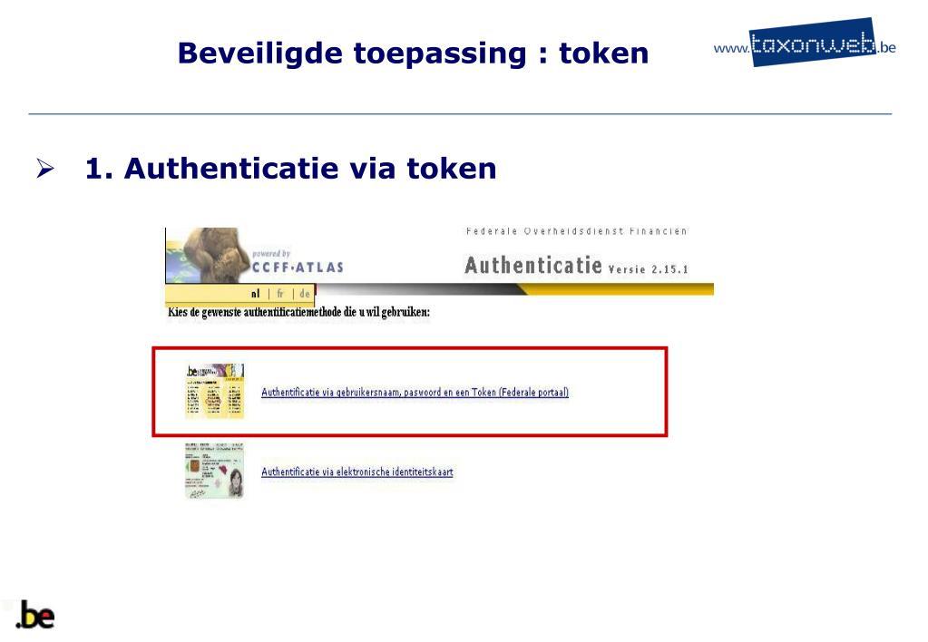 Beveiligde toepassing : token