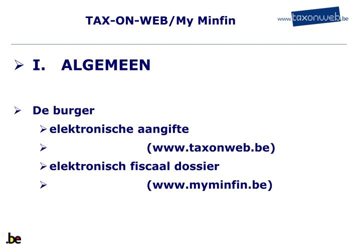 Tax on web my minfin2