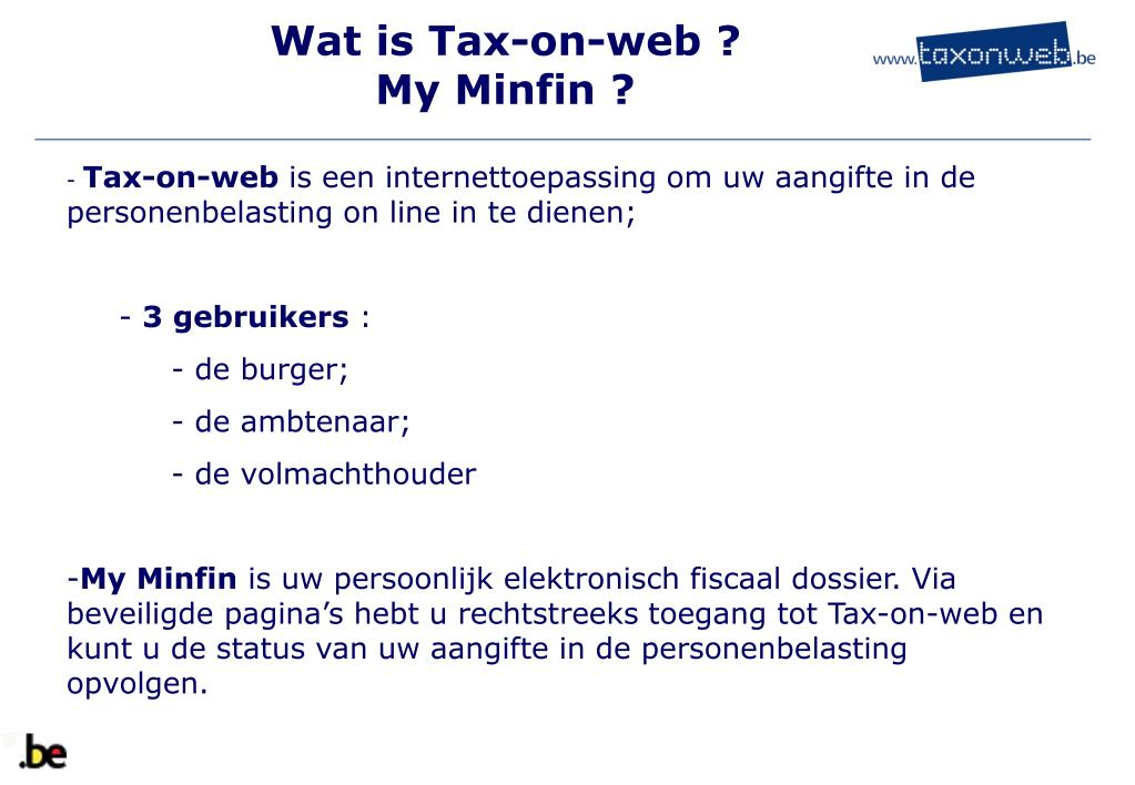 Wat is Tax-on-web ?