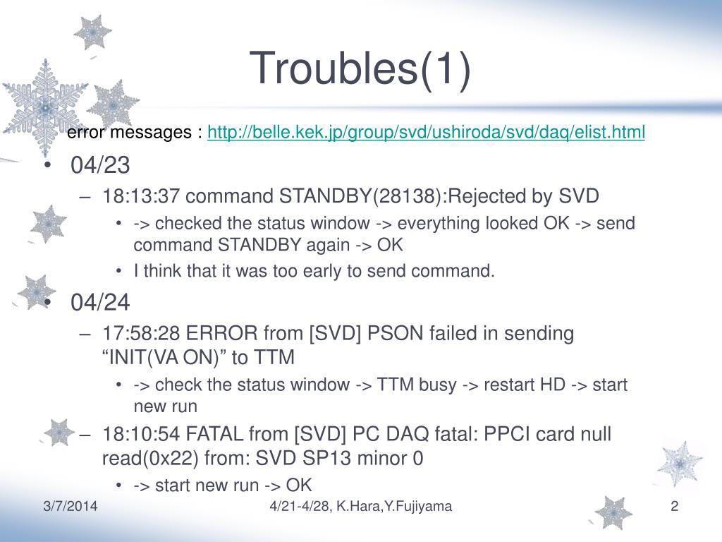 Troubles(1)