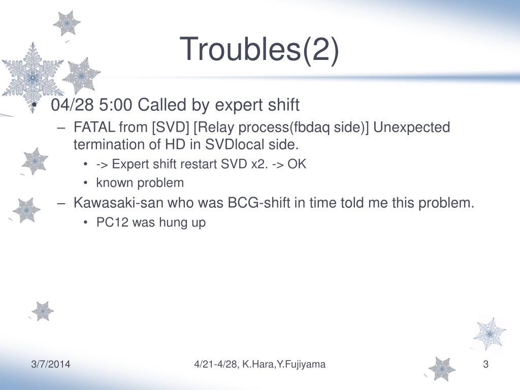 Troubles(2)