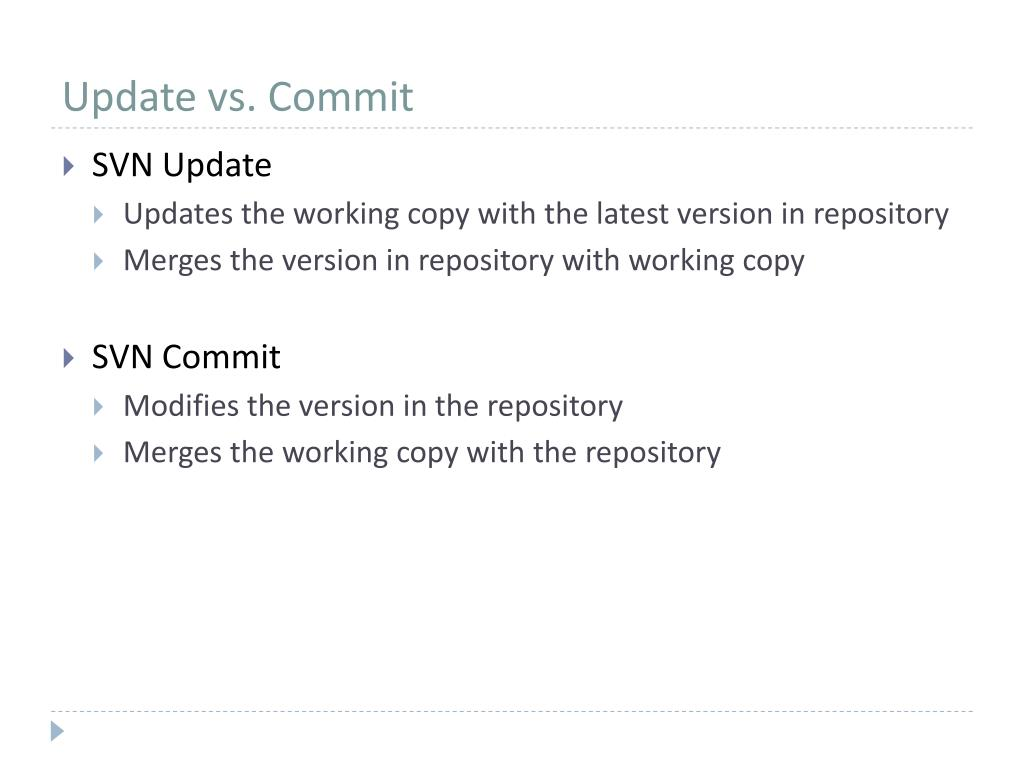 Update vs. Commit
