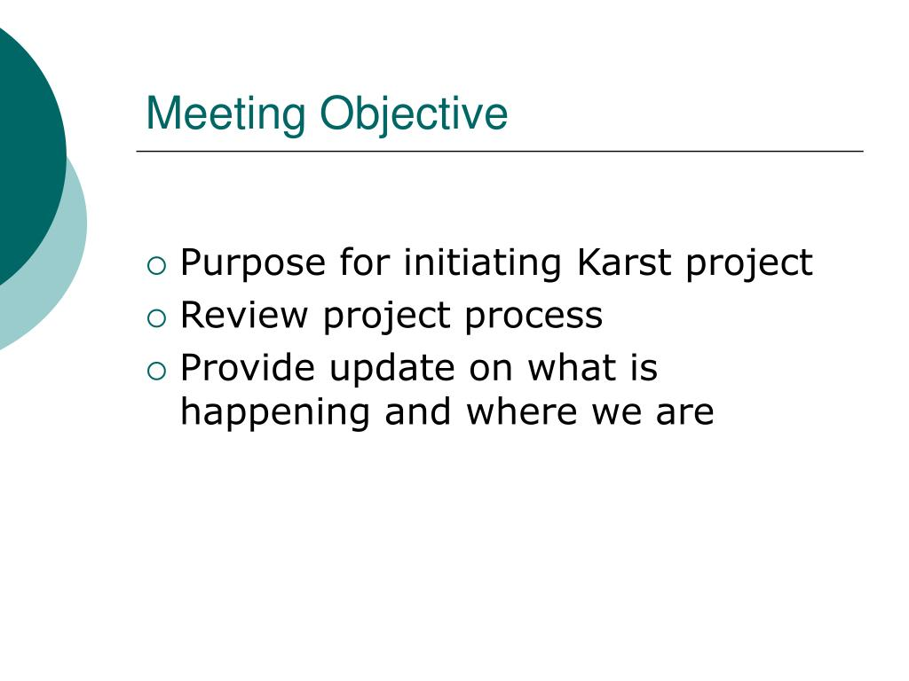 Meeting Objective