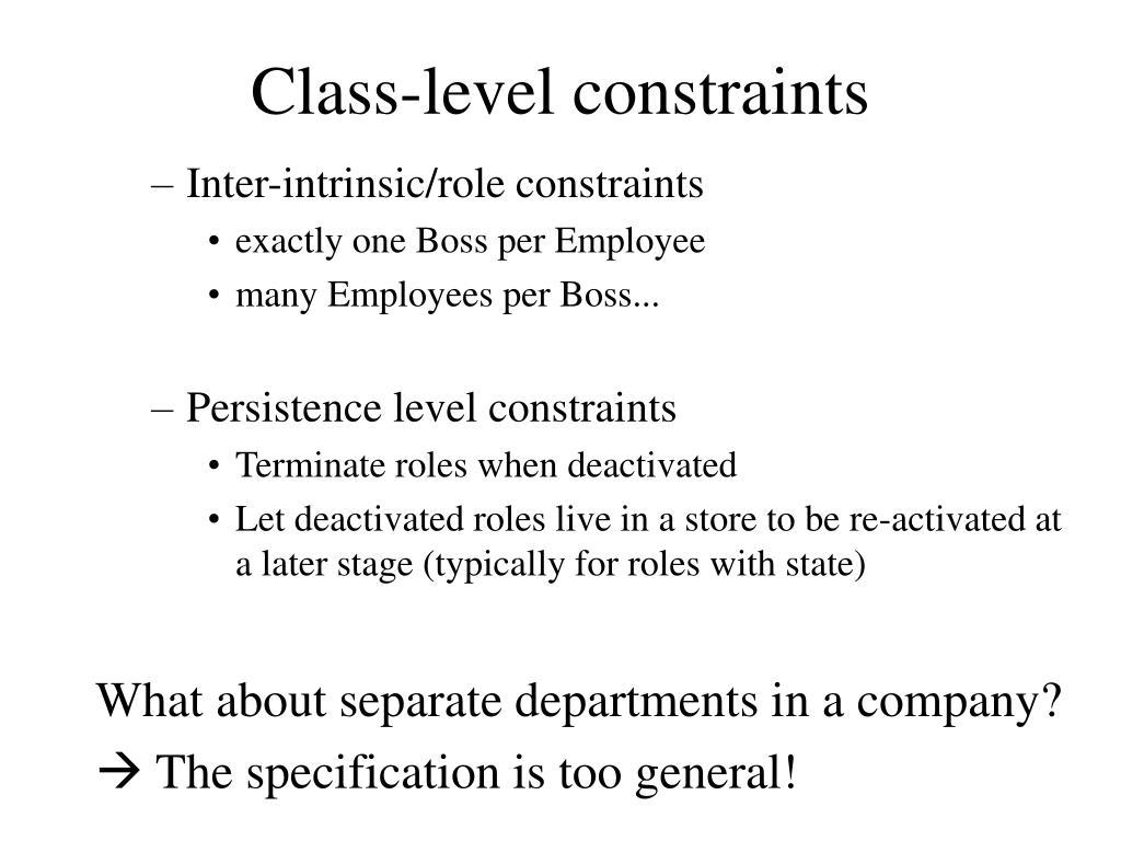 Class-level constraints