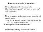 instance level constraints