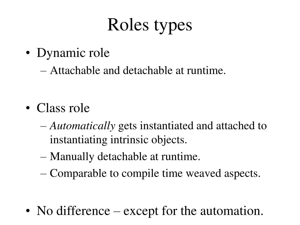Roles types