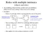 roles with multiple intrinsics objects and roles