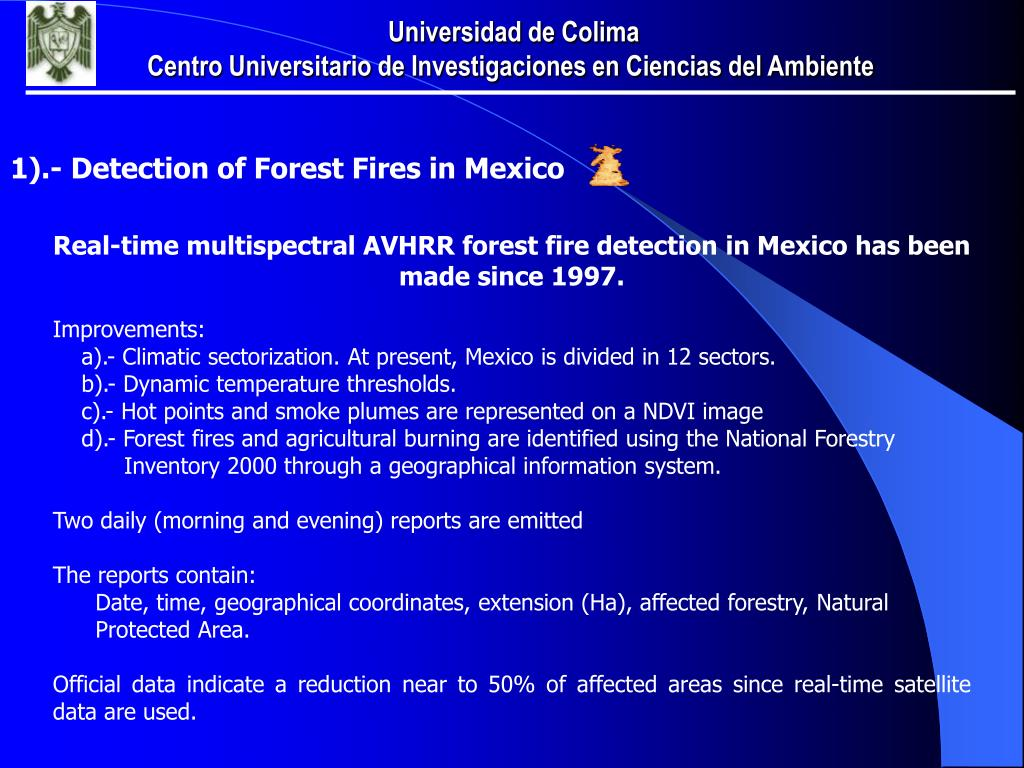 1).- Detection of Forest Fires in Mexico