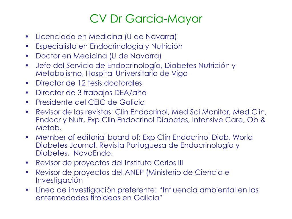 CV Dr García-Mayor