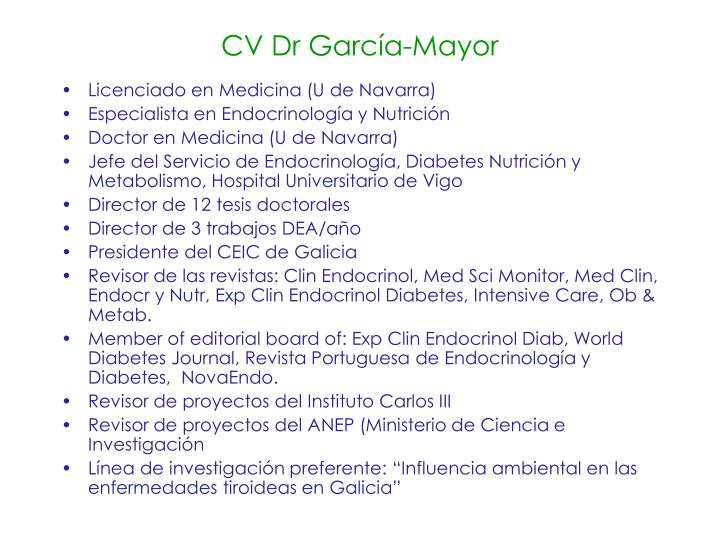 Cv dr garc a mayor