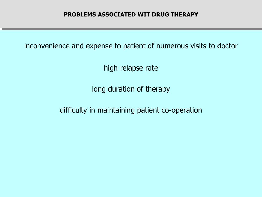 PROBLEMS ASSOCIATED WIT DRUG THERAPY