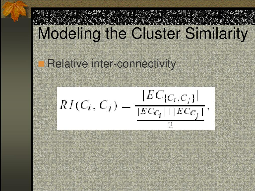 Modeling the Cluster Similarity