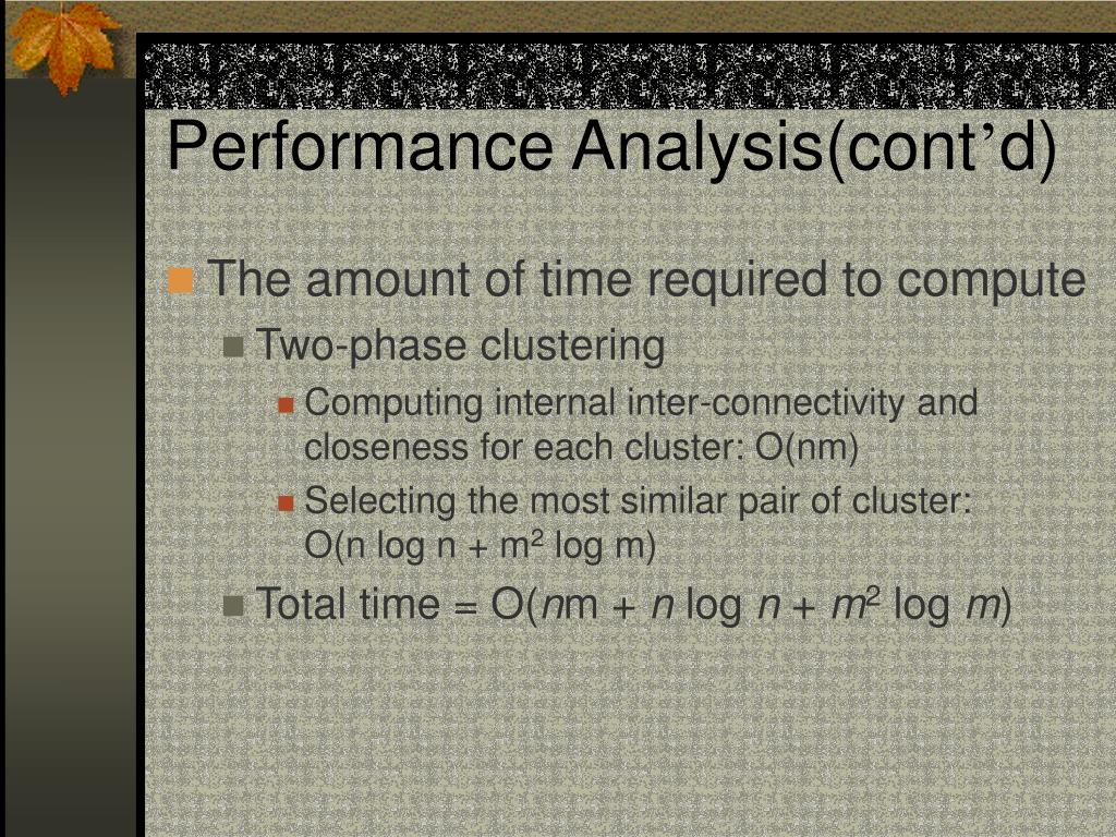 Performance Analysis(cont