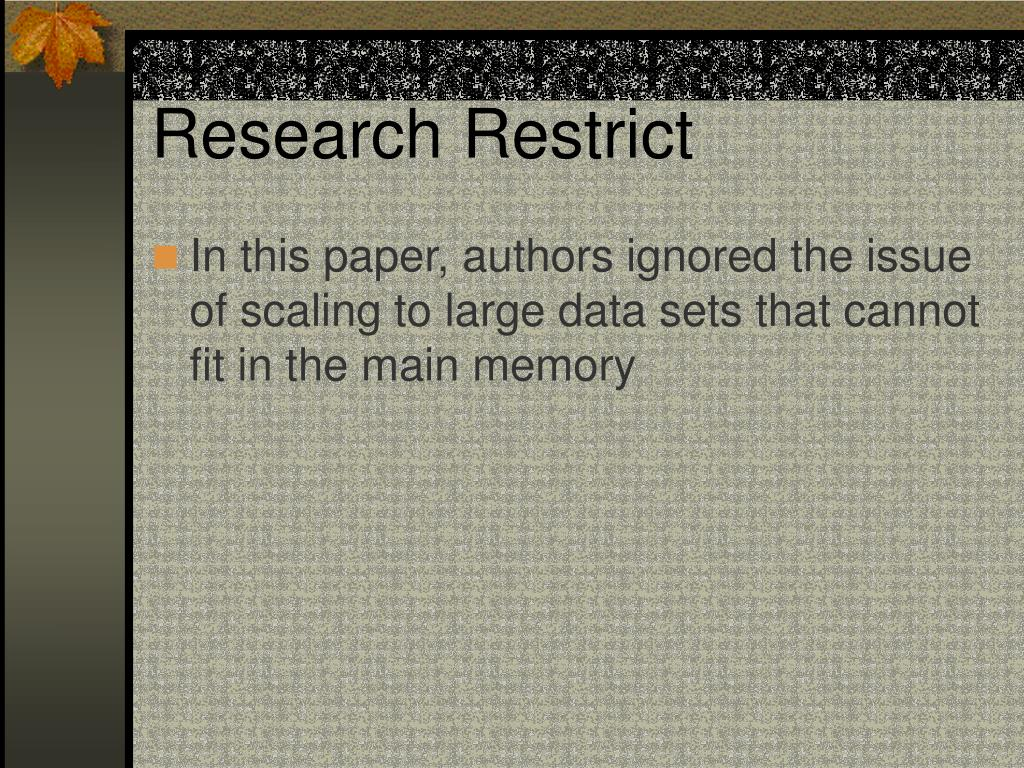 Research Restrict