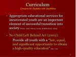 curriculum concerns for students with disabilities11