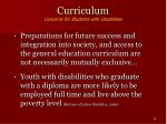 curriculum concerns for students with disabilities14