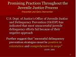 promising practices throughout the juvenile justice process27