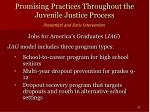 promising practices throughout the juvenile justice process29