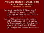 promising practices throughout the juvenile justice process31
