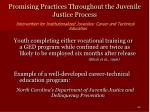 promising practices throughout the juvenile justice process40