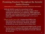 promising practices throughout the juvenile justice process42