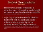 student characteristics mental health8