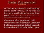 student characteristics mental health9