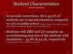 student characteristics special education