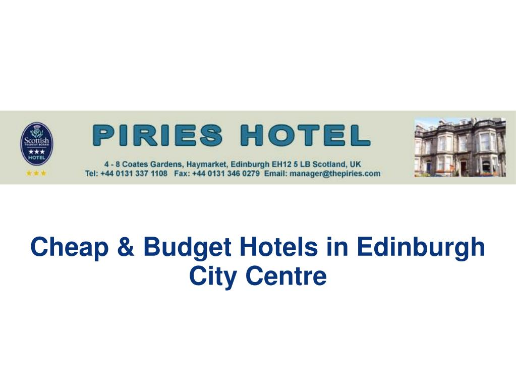 Cheap & Budget Hotels in Edinburgh City Centre