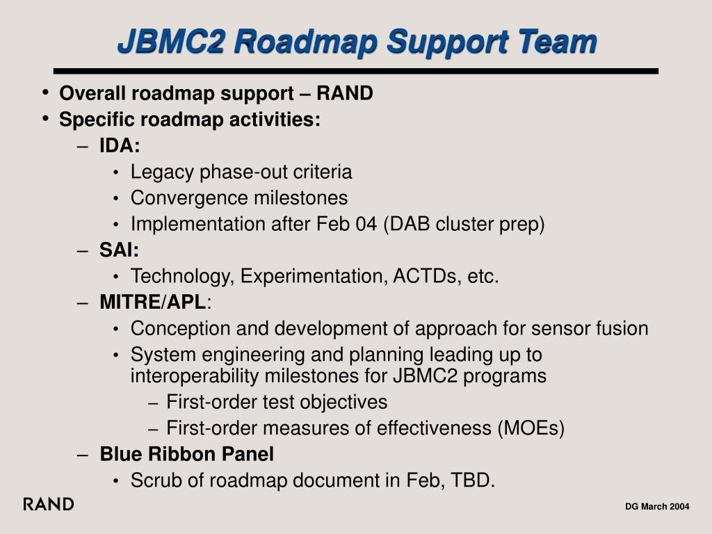 JBMC2 Roadmap Support Team