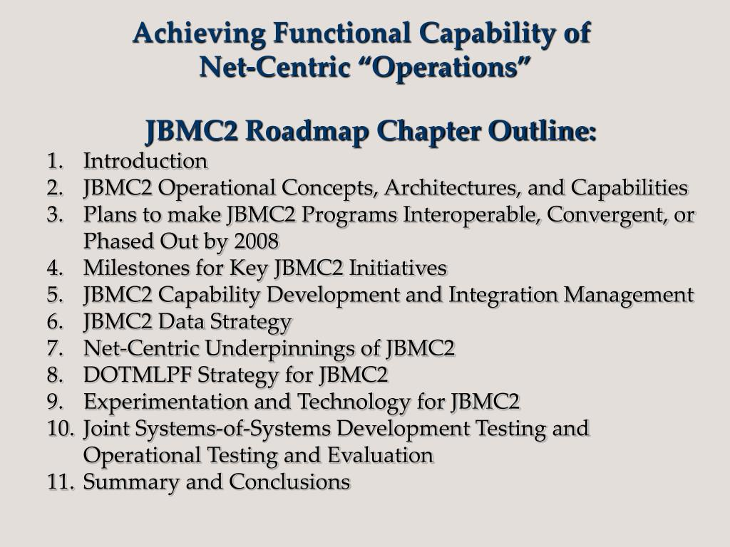 Achieving Functional Capability of