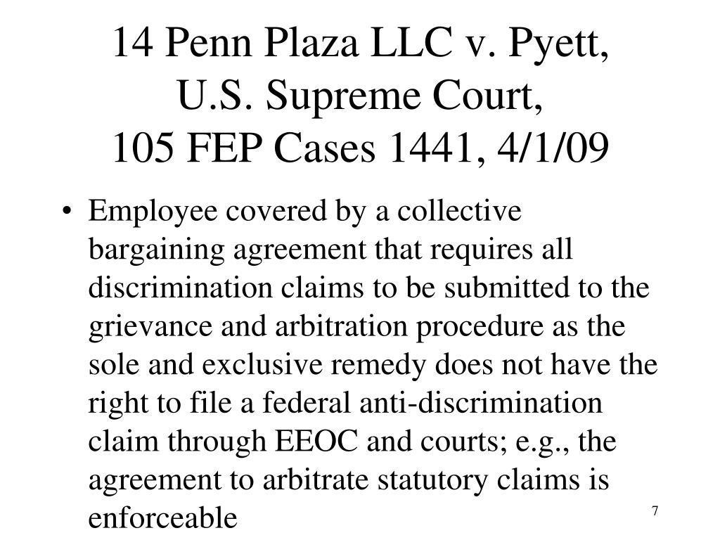 14 Penn Plaza LLC v. Pyett,