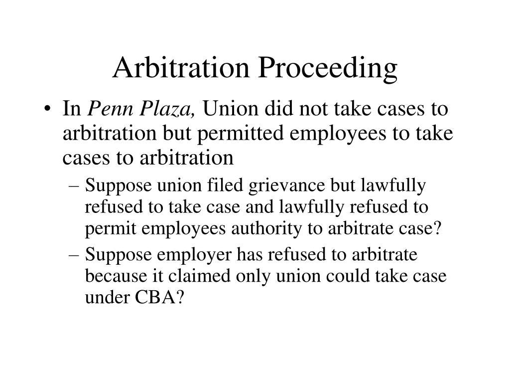 Arbitration Proceeding