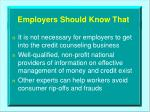 employers should know that