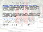 data analysis descriptive statistics