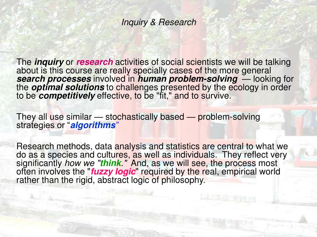 Inquiry & Research