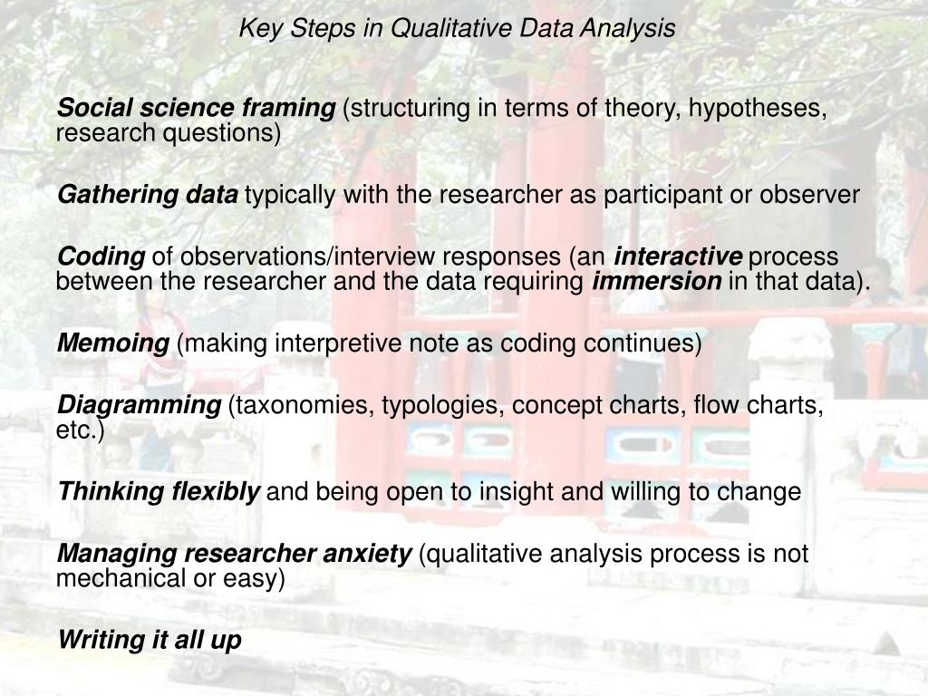 Key Steps in Qualitative Data Analysis